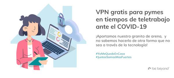 BE BEYOND ofrece instalar de forma gratuita VPN