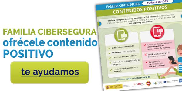 Familia cibersegura II: Cómo ofrecerles contenidos digitales positivos